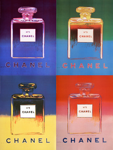 Suite of Four Chanel Advertisements