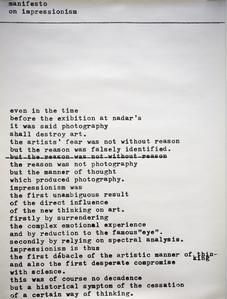 manifesto of impressionism (in English)
