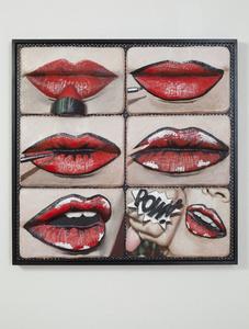 Pop art lip tutorial
