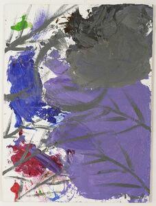 Untitled (Palette, Halloween Moon, Lemon Yellow Purple Sky, 10-31-15), 2015
