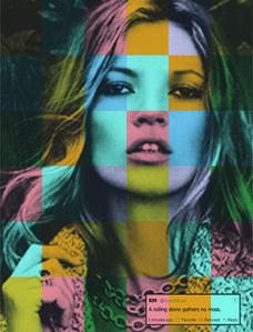 """Kate Moss """"A Rolling Stone Gathers No Moss"""""""