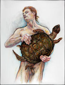 Man with Turtle