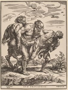 Silenus Accompanied by a Satyr and a Faun