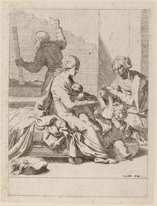 The Holy Family with Saint Elizabeth and Saint John the Baptist