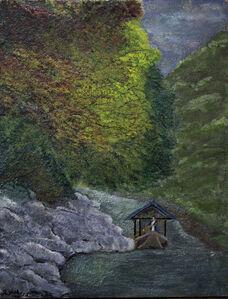 Serenity on Water, Arashiyama River Kyoto Japan,