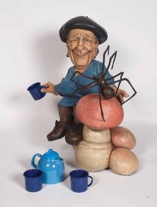 Bourgeois Having Tea With Spider