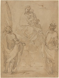 The Virgin and Child Appearing to Saints George and William