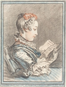 "Young Girl Reading ""Héloise and Abélard"""