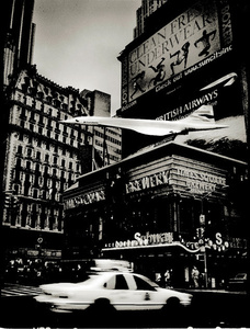 New York 1997 Concorde on Times Square