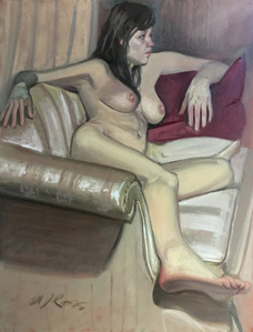 Untitled (Reclining Nude on Couch)