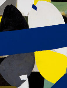Composition with Blue Figures 2015