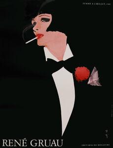 Woman in Tuxedo Smoking
