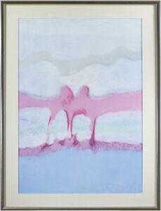 Landscape Blue, Violet, White