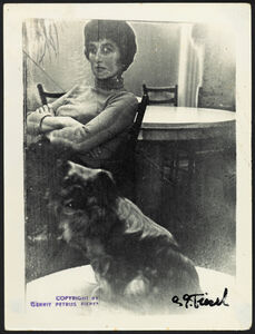 Untitled (seated woman with dog)