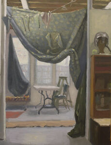 Studio with Quilt as Curtain