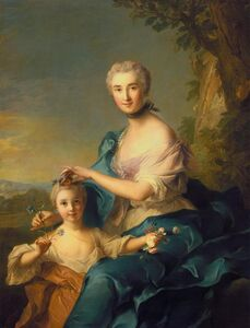 Madame Crozat De thiers and Her Daughter