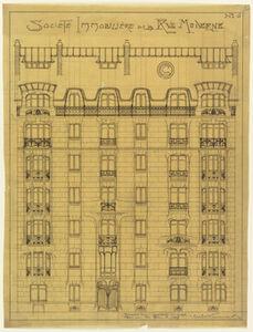 Design for the facade of Société Immobilière de la Rue Moderne
