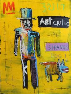 Art Critic with Strange Dog