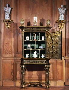 Allegorical cabinet of the Cardinal Virtues