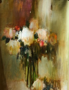 Flowers in a clear vase