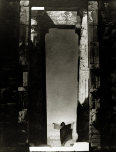 Isadora Duncan at the Portal of the Parthenon, Athens