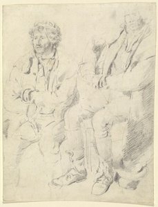 Two Studies of a Seated Man