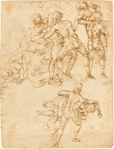 Studies for the Rape of the Sabine Women [verso]
