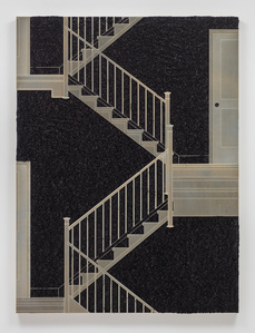 Pleated Ink, Staircase with Landing