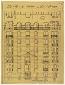 Design for the facade of Société Immobilière de la Rue Moderne