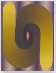 Stacked Lingam (yellow, purple, red