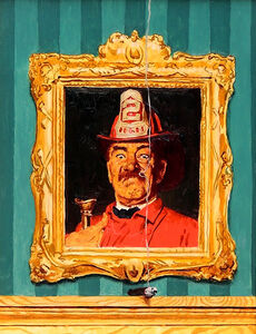 The Fireman, Study for Saturday Evening Post Cover