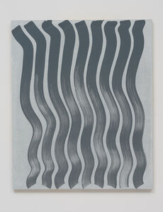 Untitled (Strokes, Grey on White)