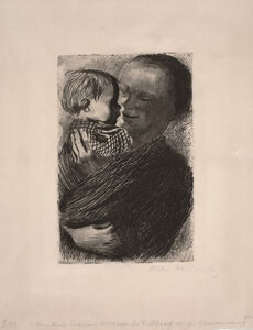 Mother with Child in Her Arms (Mutter mit Kind auf dem Arm)