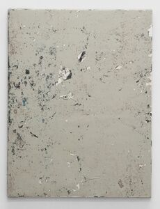 Linoleum composition in grey with knife II