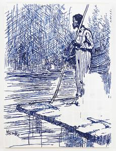 Adventures of Huckleberry Finn - On the Raft (after Mark Twain)