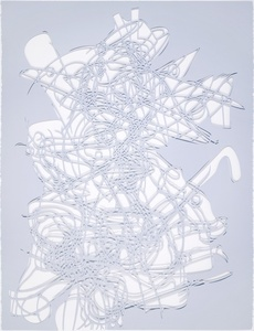 Untitled (Grey and Blue Cut-Out)