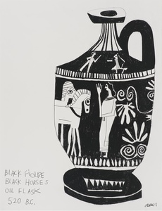 Untitled (Black Figures Black Horses)