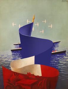 France D'Outre Mer - Original Maquette - Painting