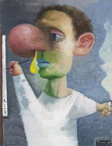 Autoportrait with a snot