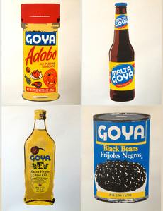 The Goya Series Set 1. Adobo, 2. Olive Oil, 3. Black Beans, 4. Malta