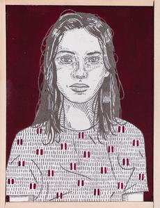 she (burgundy)