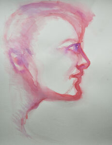 Man's Face in Pink