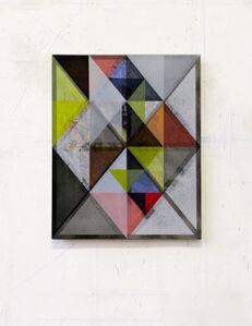 o.T. (Rauschen.317.390.17) acrylic on hdf, 39 x 31 cm