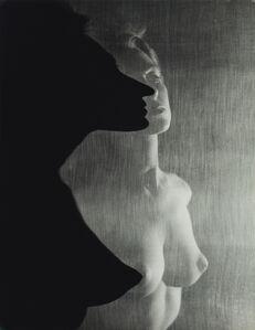 Shadow Profile Behind Veil (Female Nude)
