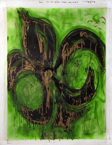 Fluorescent Green Fleur de Lys