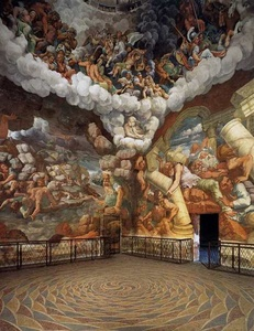 Fall of the Giants, fresco in the Sala dei Giganti, Palazzo del Te