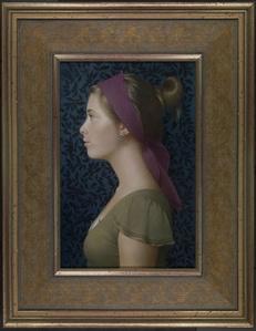 Girl in Profile, Purple Headband