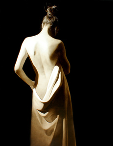Girl With White Drape