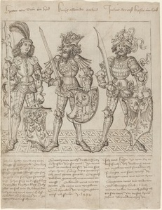 Hector of Troy, Alexander the Great and Julius Caesar