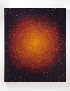 Untitled (Yellow and Red Sun on Blue)